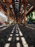 Treno di EL di Chicago Immagine Stock Libera da Diritti