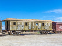 Treno di Gohst vicino a Salar de Uyuni ad Eduardo Avaroa National Reser Immagini Stock