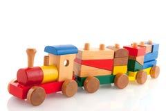 Treno di legno fotografie stock
