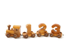 Treno di legno 123 Immagine Stock