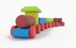 Treno di legno del giocattolo Immagini Stock