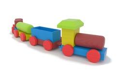 Treno di legno del giocattolo Immagine Stock