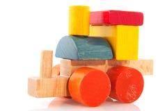 Treno di legno semplice fotografia stock libera da diritti