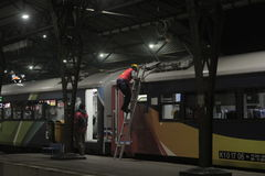 Treno di manutenzione Immagini Stock