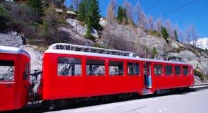 Treno di Montenvers Immagini Stock Libere da Diritti