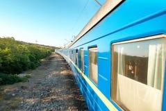 Treno di moto Fotografia Stock