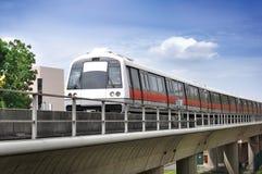 Treno di MRT di Singapore Fotografia Stock