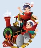Treno di Natale Fotografie Stock Libere da Diritti