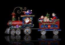 Treno di natale della Santa Immagini Stock
