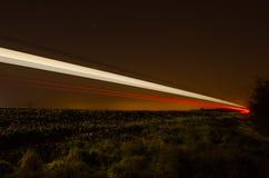 Treno di notte Fotografia Stock