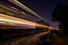 Treno di notte Fotografie Stock