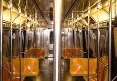 Treno di NYC - dentro Immagine Stock