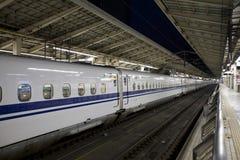 Treno di pallottola di Shinkansen Fotografie Stock