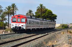 Treno di partenza Fotografie Stock