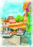 Treno di piacere nel Monaco illustrazione di stock