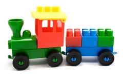 Treno di plastica Fotografia Stock