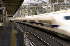Treno di richiamo nel Giappone Fotografie Stock
