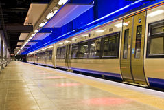 Treno di richiamo, Sudafrica - Gautrain Immagini Stock