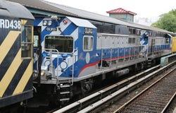 Treno di riparazione del sottopassaggio a re Highway Station a Brooklyn Immagine Stock