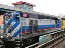 Treno di riparazione del sottopassaggio a re Highway Station a Brooklyn Immagine Stock Libera da Diritti