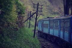 Treno di Sri Lanakan Fotografie Stock Libere da Diritti