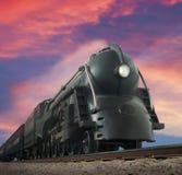 Treno di Streamliner Immagini Stock Libere da Diritti