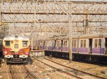 Treno di Suberban Fotografie Stock Libere da Diritti
