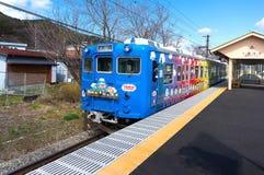 Treno di Thomas Land, uno del treno della linea ferroviaria di Fujikyu, Kawagu Fotografia Stock Libera da Diritti