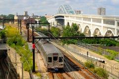 Treno di transito veloce Fotografia Stock