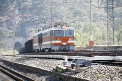 Treno di trasporto. fotografie stock libere da diritti
