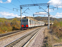 Treno di trasporto Fotografia Stock