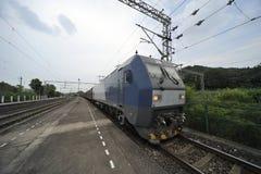 Treno di trasporto cinese Fotografia Stock