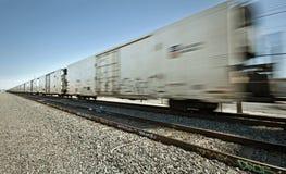 Treno di trasporto commovente Immagine Stock Libera da Diritti