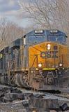 Treno di trasporto di CSX Fotografie Stock