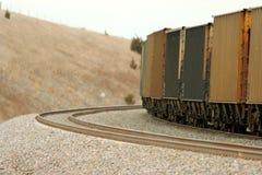 Treno di trasporto sulla curva Immagine Stock Libera da Diritti