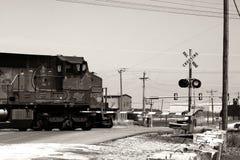 Treno di traversata Fotografia Stock