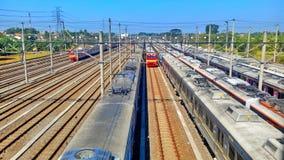 Treno 'Dipo' Fotografie Stock