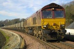 Treno e ferrovia del carbone a Culross Fotografia Stock Libera da Diritti