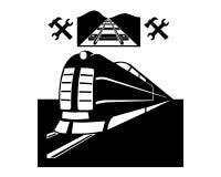 Treno e linea ferroviaria Immagini Stock