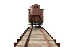 Treno e rotaie Immagine Stock