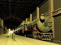 Treno e vagoni Immagine Stock