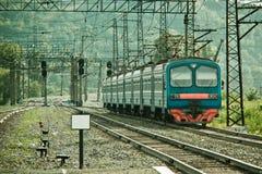 Treno elettrico Immagine Stock