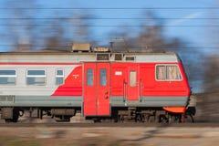 Treno elettrico suburbano due Fotografie Stock Libere da Diritti