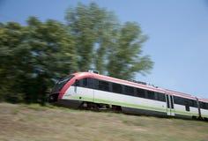 Treno elettrico sul andare Immagini Stock Libere da Diritti