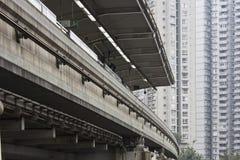 Treno elevato Fotografia Stock