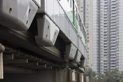 Treno elevato Immagine Stock
