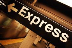 Treno espresso Fotografia Stock