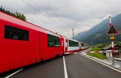 Treno espresso del ghiacciaio, Svizzera Fotografia Stock Libera da Diritti