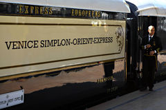 Treno espresso di oriente Fotografia Stock Libera da Diritti