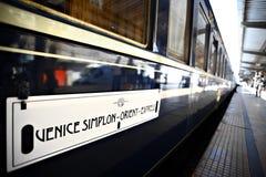 Treno espresso di oriente Fotografie Stock